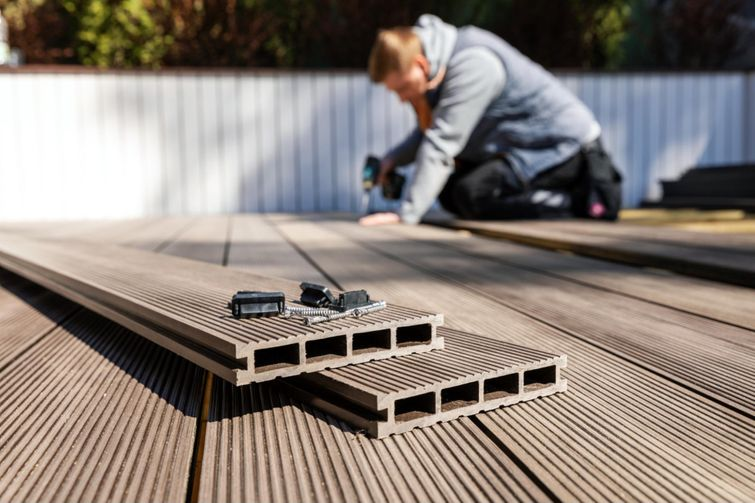 Composite decking is lighter and just as easy to install.