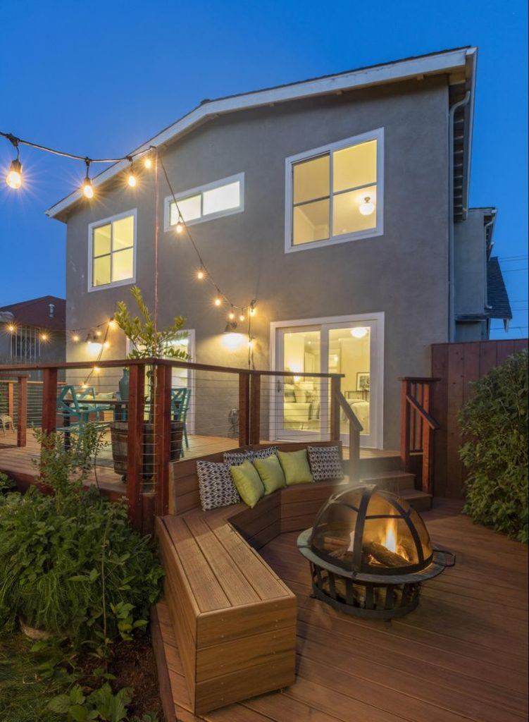 Add ambiance and extend your time on your deck with lighting.