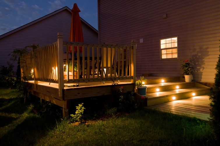 Add outdoor lighting to use your deck later into the night.