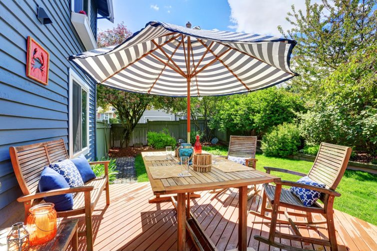 Add an umbrella to create more shade on your deck.